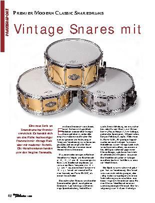 Vintage Snares mit moderner Technik