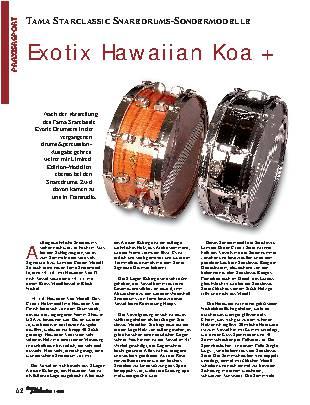 Exotix Hawaiian Koa +