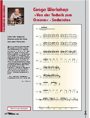 Conga Workshop Von der Technik zum Groove - Sechstolen