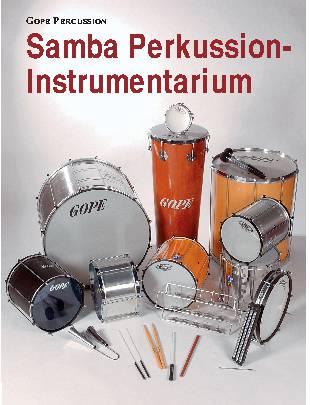 Samba Perkussion-Instrumentarium