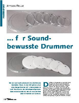 ... für Sound-bewusste Drummer