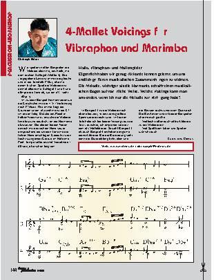 4-Mallet Voicings für Vibraphon und Marimba