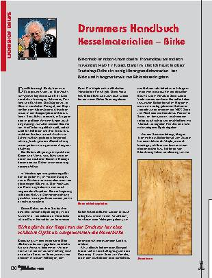 Drummers Handbuch Kesselmaterialien – Birke