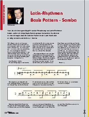 Latin-Rhythmen Basis Pattern - Samba
