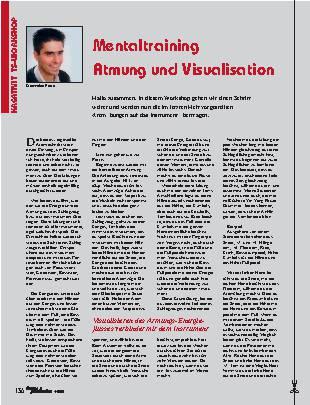 Mentaltraining Atmung und Visualisation