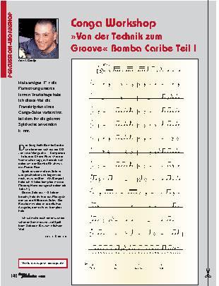 Conga Workshop Von der Technik zum Groove Bomba Caribe Teil I