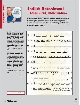 Endlich Notenlesen! 16tel, 8tel, 8tel-Triolen