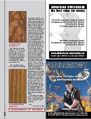 Drummers Handbuch Kesselhölzer Mahagoni