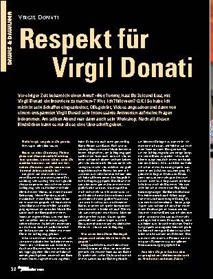 Respekt für Virgil Donati