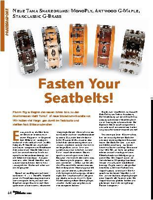 Fasten Your Seatbelts!