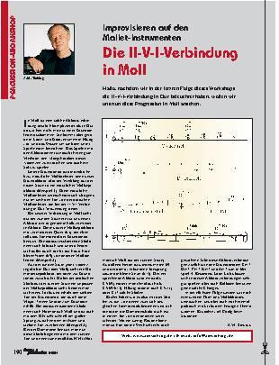 Die II-V-I-Verbindung in Moll