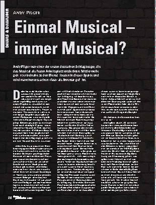 Einmal Musical – immer Musical?