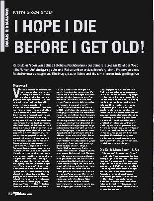 I Hope I Die Before I Get Old!