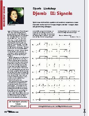 Djembé IX: Signale
