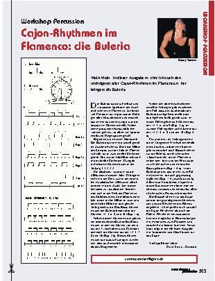 Cajon-Rhythmen im Flamenco: die Buleria