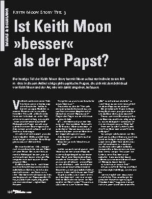 Ist Keith Moon besser als der Papst?