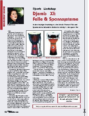Djembé XI: Felle & Spannsysteme