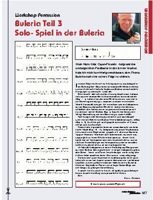 Buleria Teil 3: Solo-Spiel in der Buleria