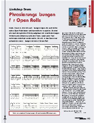 Phrasierungsübungen für Open Rolls