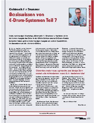Basiswissen von E-Drum-Systemen (Teil 7)