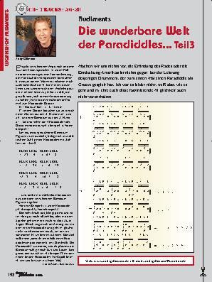 Die wunderbare Welt der Paradiddles... (Teil 3)