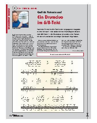 Endlich Notenlesen! Ein Drumduo im 6/8-Takt