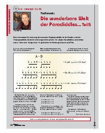 Die wunderbare Welt der Paradiddles... (Teil 5)