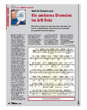 Endlich Notenlesen! Ein weiteres Drumduo im 6/8-Takt
