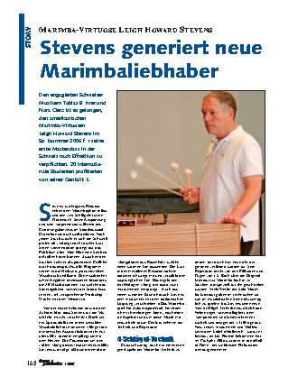 Stevens generiert neue Marimbaliebhaber