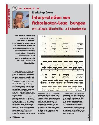 Interpretation von Achtelnoten-Leseübungen mit »Single Windmills in Sechzehnteln