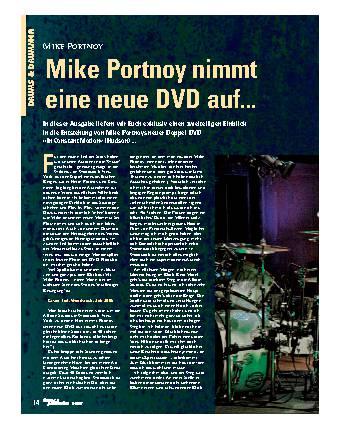Mike Portnoy nimmt eine neue DVD auf...
