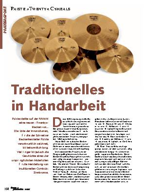 Traditionelles in Handarbeit