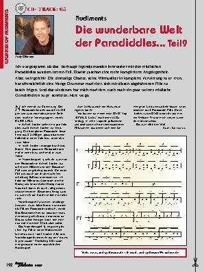 Die wunderbare Welt der Paradiddles... (Teil 9)