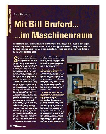 Mit Bill Bruford... im Maschinenraum