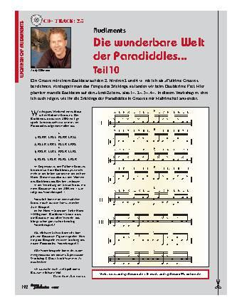Die wunderbare Welt der Paradiddles... (Teil 10)
