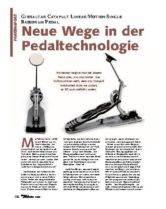 Neue Wege in der Pedaltechnologie