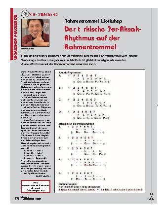 Der türkische 7er-Aksak-Rhythmus auf der Rahmentrommel