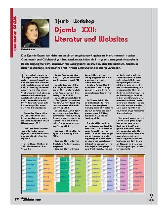 Djembé XXII: Literatur und Websites
