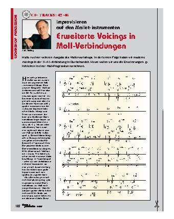 Erweiterte Voicings in Moll-Verbindungen