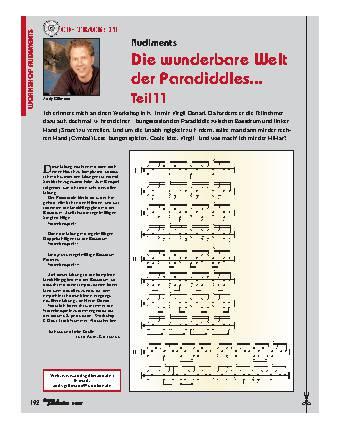 Die wunderbare Welt der Paradiddles... (Teil 11)