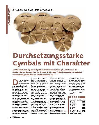 Durchsetzungsstarke Cymbals mit Charakter