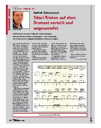 16tel-Triolen auf dem Drumset verteilt und angewendet