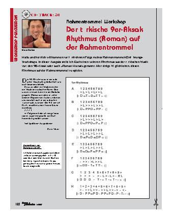 Der türkische 9er-Aksak Rhythmus (Roman) auf der Rahmentrommel