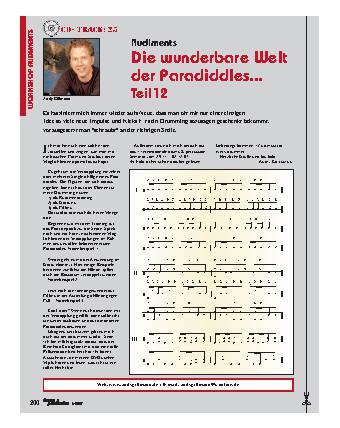 Die wunderbare Welt der Paradiddles (Teil12)