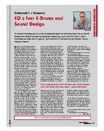 EQ s fuer E-Drums und Sound Design