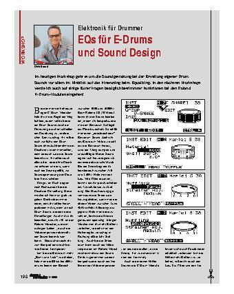 EQs für E-Drums und Sound Design