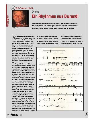 Ein Rhythmus aus Burundi