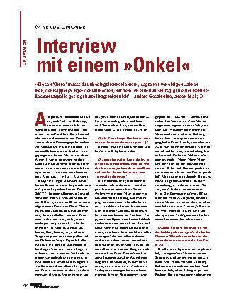 Interview mit einem Onkel