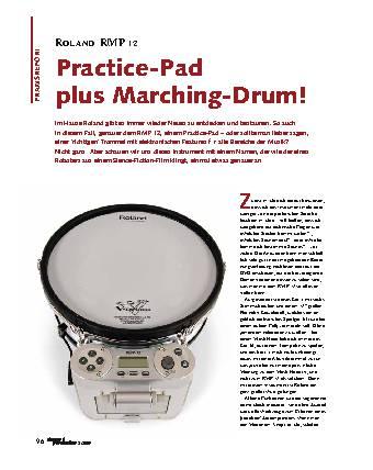 Practice-Pad plus Marching-Drum!