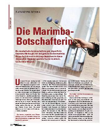 Die Marimba-Botschafterin